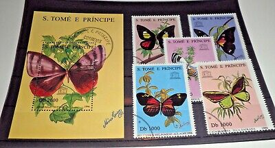 "S. Tome E Principe 1996 ""butterflies"" Used Set + Block (Cat.5)"