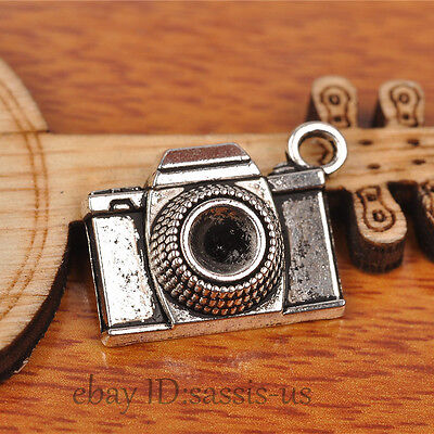 30pcs 21mm Charms 3D Camera Pendant Tibet Silver DIY Jewelry Making Charm A7231