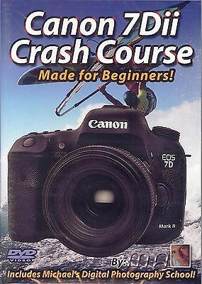 Canon 7D Mark II Crash Course Made for Beginners! 4++ hour DVD - LOW Int'l ship