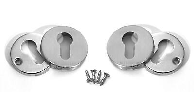 Escutcheon Plates, Euro Cylinder, #304 Stainless Steel, Front & Back Lock Covers