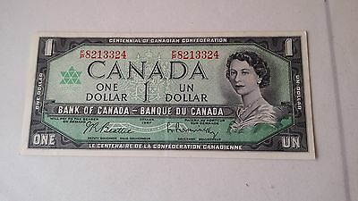 Two 1967 Bank Of Canada One 1 Dollar Bank Notes Unc