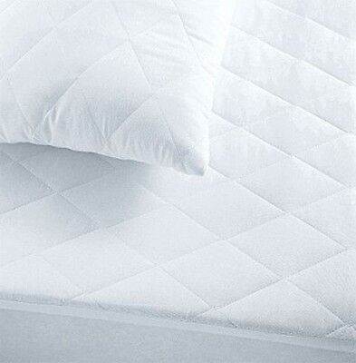 "Quilted Mattress Protector All Sizes Fitted Extra Deep 12"" Bed Cover"