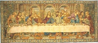 "65"" X 26"" Da Vinci Last Supper Tapestry Wall Hanging, Fully Lined + Rod Sleeve"