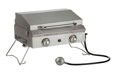 Portable Stainless Steel BBQ LP Grill Stove Cookware with Grill Cover