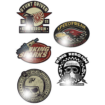King Kerosin Stunt Driver 15cm Aufkleber Sticker Rockabilly Oldschool OEM Glory