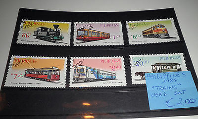 """Philippines 1984 """"trains"""" Used Set (Cat.5A)"""