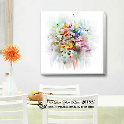"""Bouquet"" Watercolour Stretched Canvas Print Framed Kids Wall Art Decor Painting"