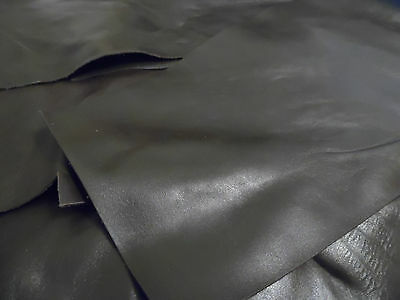 Chocolate Brown Smooth Cow Leather Offcuts, Assorted Sizes, Bookbinding/Crafts