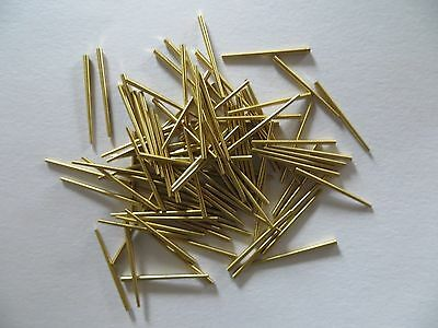 "Brass Clock Tapered Pins - Package of 100 - .065""/1.65mm to .030""/.76mm"