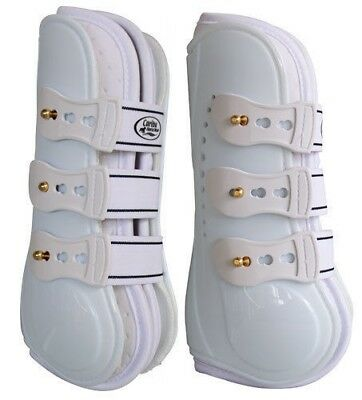 CARIBU AirMax WHITE Moulded TENDON BOOTS, Studs & Neoprene Liner. Large/ Medium