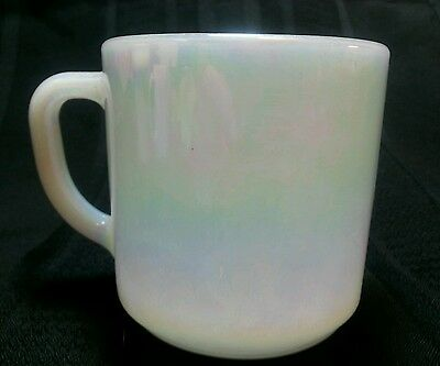 Vintage Federal Milk Glass Iridescent Moonglow Coffee Tea Cup