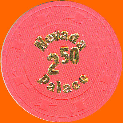 NEVADA PALACE $2.50 1980's OBSOLETE CASINO CHIP LAS VEGAS NV - FREE SHIPPING