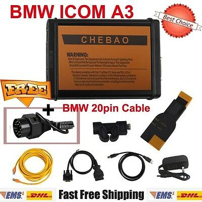 BMW ICOM A3 Professional Diagnostic Tool Hardware V1.38 Get Free BMW 20Pin Cable