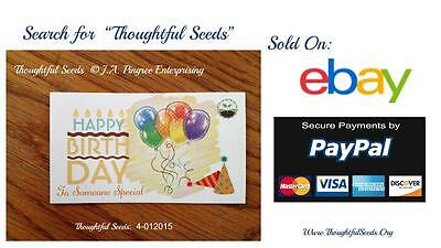 """Cards of Encouragement - """"Thoughtful Seeds"""" 4-12015 - Birthday 10 Pack)"""