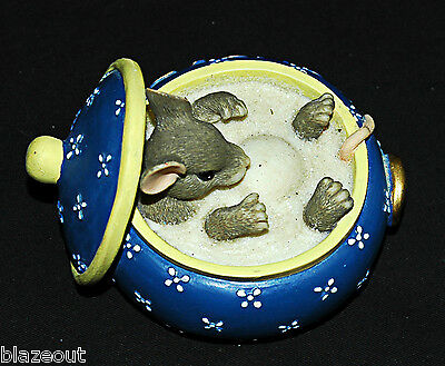 Retired Charming Tails You Couldn't Be Sweeter Mouse In Sugar Bowl Figurine