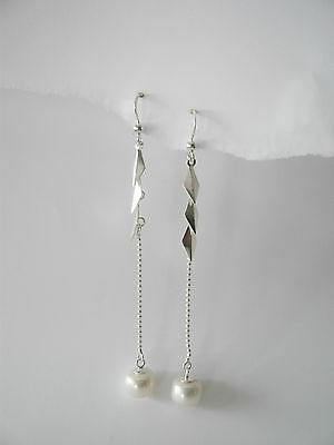 sterling silver and freshwater earrings
