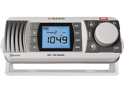 GR300BTW AM/FM Marine Radio with Bluetooth - White