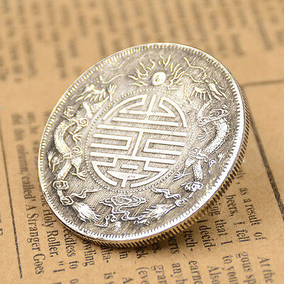 Vintage Lucky Coins Chinese Fortune Coin Double Dargon Pattern Qing Dynasty 1pc