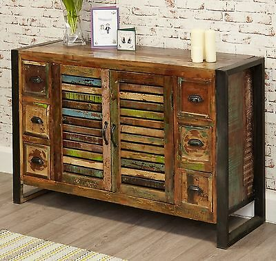 Urban Chic Reclaimed Wood Furniture Six Drawer Living Dining