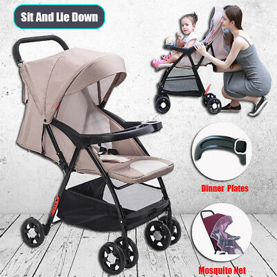 BABY KID TODDLER STROLLER PRAM LIGHTWEIGHT UMBRELLA FOLD JOGGER 4 WHEEL SGS New