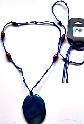 Agate Necklace, contains blessed by John of God, Casa Crystal wood beads