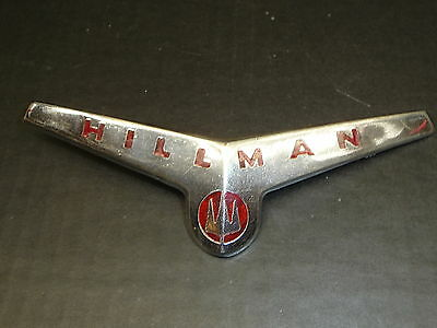 Vintage Hillman Emblem Curved/V-Shaped Badge