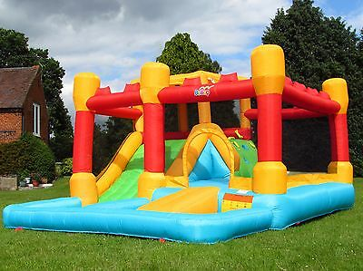 BeBop Fortress Big Inflatable Bouncy Castle and Large Water Slide For Kids
