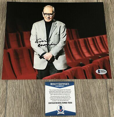 ENNIO MORRICONE SIGNED THE GOOD THE BAD AND THE UGLY 8x10 PHOTO w/EXACT PROOF
