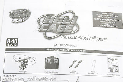 Air hogs rc heli cage instruction manual english used a17d.