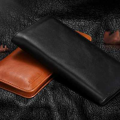 Genuine Leather Phone Case Luxury Retro Wallet Purse Universal Phone Cover Shell