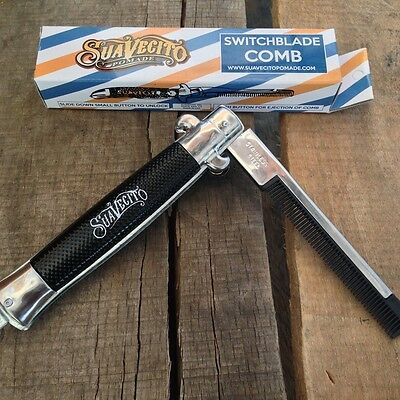 Peine SUAVECITO Switchblade Comb Pomade Old School Original Rockabilly Cepillo