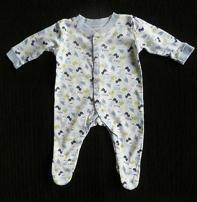 Baby clothes BOY 0-3m George dinosaur white/blue babygrow COMBINE POST SEE SHOP!