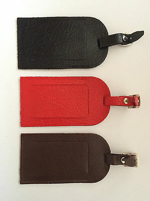 New Real Leather Travel Luggage Tag Suitcase Label Address Id Holiday Tags