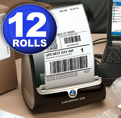 DYMO 4XL Direct Thermal Shipping Labels 4x6 ( 12 rolls )  1744907 compatible