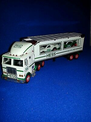 1997 Hess Gasoline Toy Truck And 2 Racers