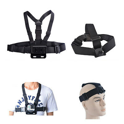 2 in 1 Adjustable Elastic Head and Chest Harness Strap Mount for GoPro SJCam