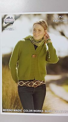 Heirloom Knitting Pattern #346 to Knit Ladies Cardigan in 8 Ply