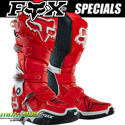 Fox 16 instinct MX Racing Boots Red Motocross Off Road Dirt Bike Shoes RRP$599