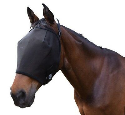 CARIBU Horse Fly Mask Veil, Soft Ballistic Mesh High Visability Great Fit 3 Size