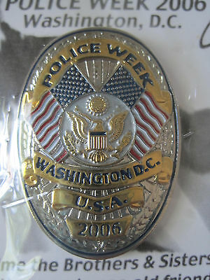 Police Week 2006 Washington Dc Badge Pin - Made By Gunz - New
