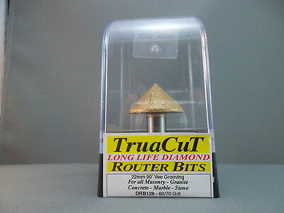 Router Bit- 17mm DIAMOND Vee Grooving DRB129 (TruaCuT)