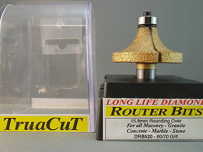 Router Bit- 16mm DIAMOND RoundingOver DRB520 (TruaCuT)