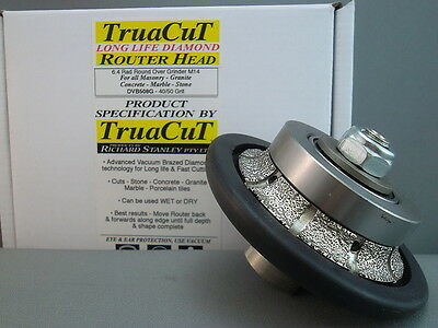 RouterHead-6.4 mm DIAMOND RoundingOver DVB508G(TruaCuT)
