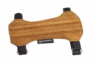 ArcheryMax Target Fine Leather Arm Guard Unisex Size:19cm Long x9cm Archery