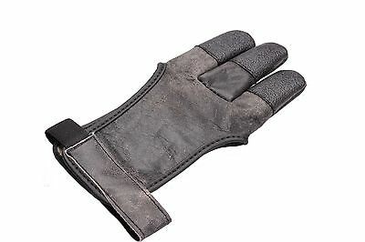 ArcheryMax Hand Made TRADITIONALShooting Antique Leather Gloves Archery Finger