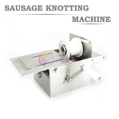NEW 32mm Stainless Steel Manual Hand-rolling Sausage Tying & Knotting Machine