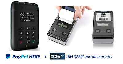 PayPal Here Contactless Chip & Pin Card Reader + Star SM220i portable printer