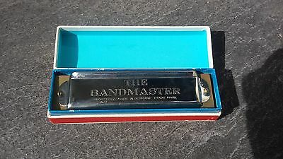 Vintage The Bandmaster Harmonica Made In Germany Trade Mark