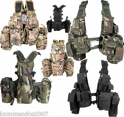 South African Assault Vests Military Airsoft Cadet Fishing Tactical Army Webbing