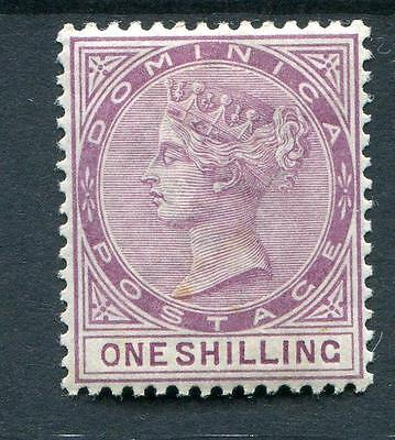 Dominica 1886-90 1s dull magenta SG26 fresh MM quite lightly hinged cat £200